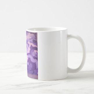 purple camouflage coffee mug