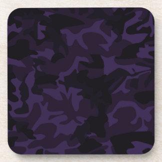 purple camouflage coaster