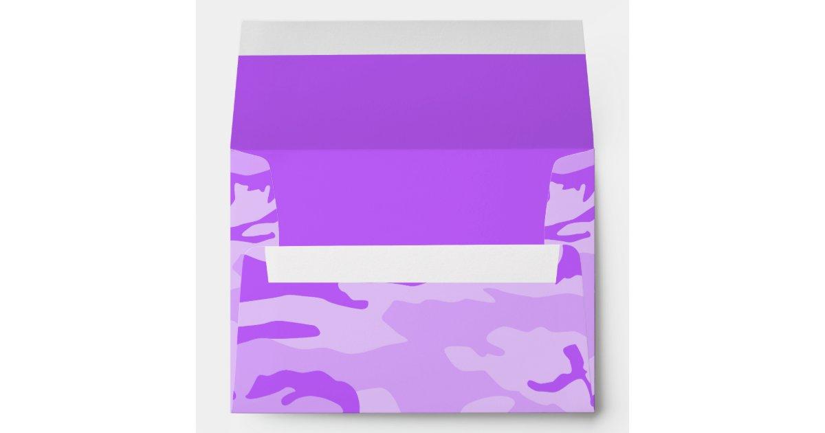 purple camouflage envelopes zazzle