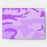 Purple Camouflage Envelopes