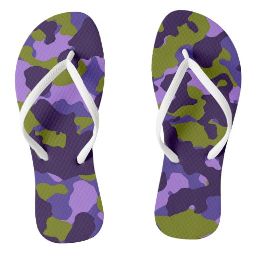 Purple & Green Camouflage