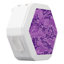 Purple Camouflage Pattern Boombot REX Speakers