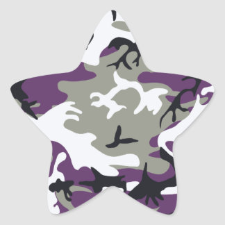 Purple Camouflage Sticker