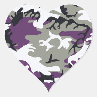 Purple Camouflage Sticker