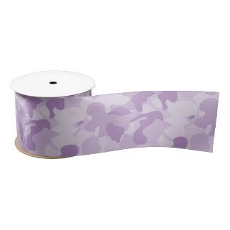 Purple Camouflage Satin Ribbon