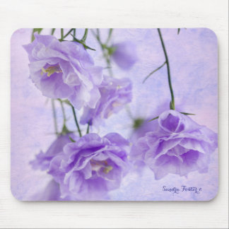 Purple Campanella Flowers Macro Mouse Pad