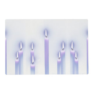 Purple Candles Placemat
