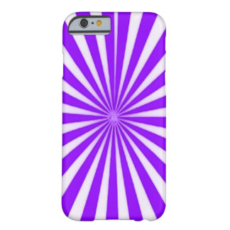 Purple Candy Cane Star Burst Pattern Barely There iPhone 6 Case