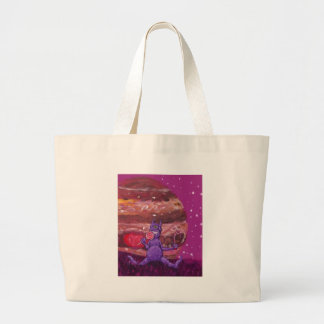 Purple Candy eating Cyclops Over jupiter Jumbo Tote Bag