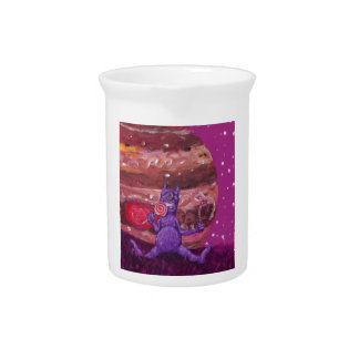 Purple Candy eating Cyclops Over jupiter Drink Pitchers