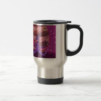 Purple Candy eating Cyclops Over jupiter Travel Mug