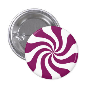 Purple Candy Swirl Pinback Button
