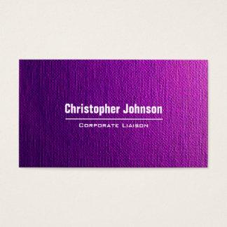 Purple Canvas Modern Professional Business Card