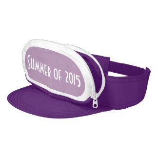 Purple Cap-Sac fanny pack for head, Summer of 2015 Visor