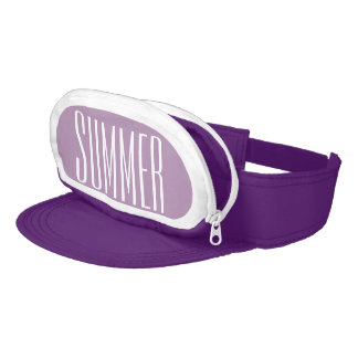 Purple Cap-Sac fanny pack for your head, Summer Visor