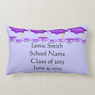 Purple Caps Tassel Worth the Hassel Lumbar Pillow
