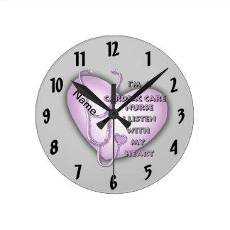 Purple Cardiac Care Nurse Round Clock
