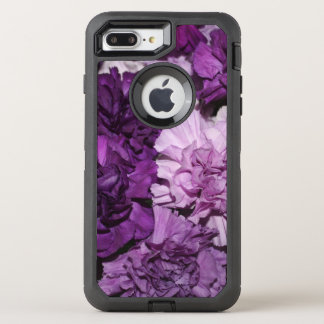 Purple Carnation Flowers OtterBox Defender iPhone 7 Plus Case