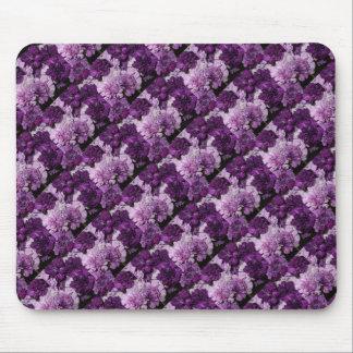 Purple Carnations Floral Bouquet Mouse Pad