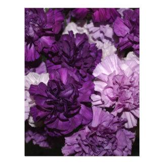 Purple Carnations Flowers Arrangement Letterhead