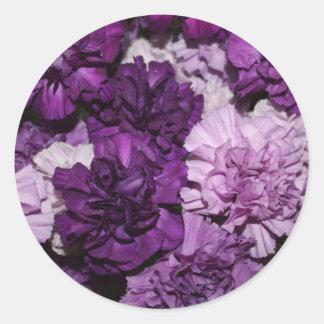 Purple Carnations Flowers Arrangement Stickers
