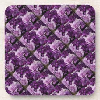 Purple Carnations Flowers Drink Coaster