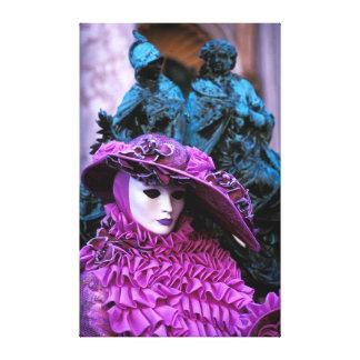 Purple Carnival Costume Canvas Print