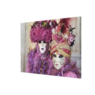 Purple Carnival costume, Venice Canvas Print