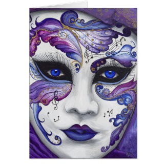 Purple Carnival Mask by PSOVART Card