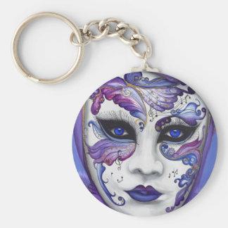 Purple Carnival Mask by PSOVART Keychain
