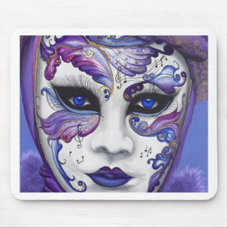 Purple Carnival Mask by PSOVART Mouse Pads