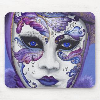 Purple Carnival Mask by PSOVART Mousepads