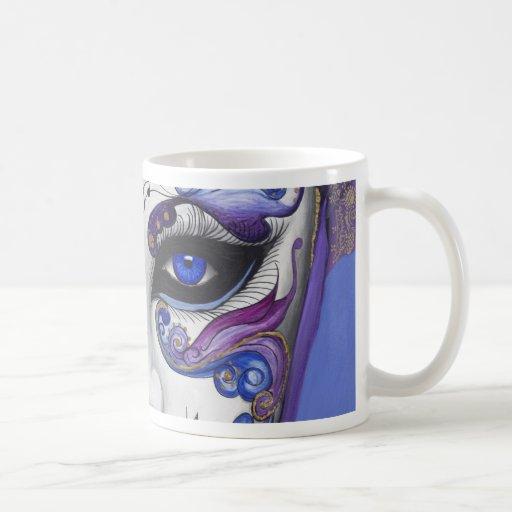 Purple Carnival Mask by PSOVART Mugs