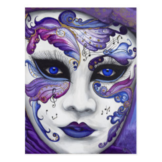 Purple Carnival Mask by PSOVART Postcard