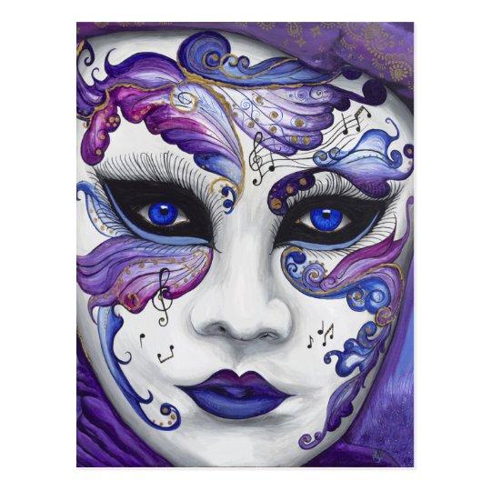 Purple Carnival Mask by PSOVART Postcard