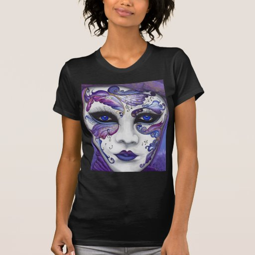 Purple Carnival Mask by PSOVART T-Shirt
