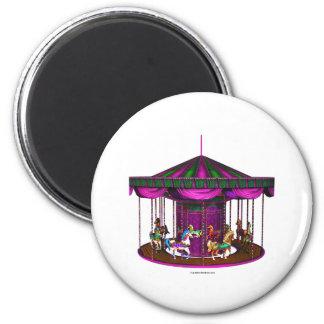 Purple Carousel Magnet