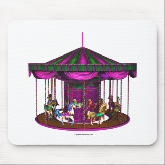 Purple Carousel Mouse Pad