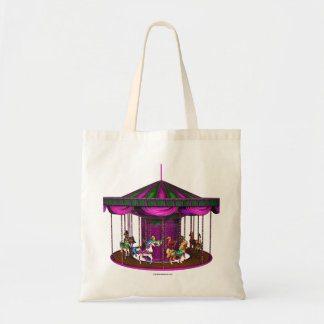 Purple Carousel Tote Bag