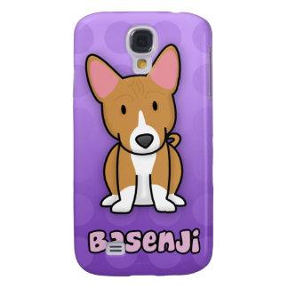 Purple Cartoon Basenji Samsung Galaxy S4 Covers