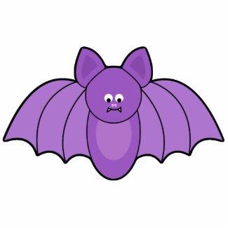 Purple Cartoon Bat Halloween Ornament photosculpture