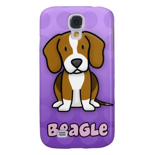 Purple Cartoon Beagle Galaxy S4 Cover