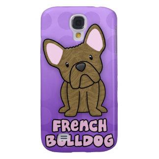 Purple Cartoon Brindle French Bulldog Samsung Galaxy S4 Case
