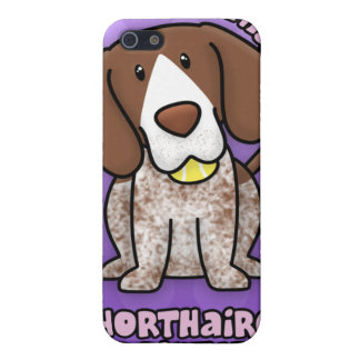 Purple Cartoon German Shorthaired Pointer Covers For iPhone 5