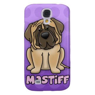 Purple Cartoon Mastiff Galaxy S4 Cases