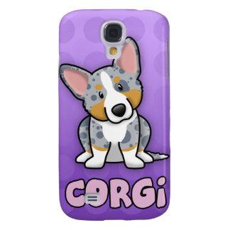 Purple Cartoon Merle Cardigan Welsh Corgi Samsung Galaxy S4 Case