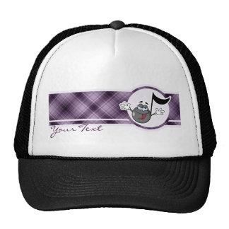 Purple Cartoon Music Note Trucker Hat