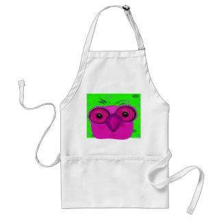 Purple Cartoon Owl Adult Apron