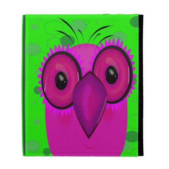 Purple Cartoon Owl d iPad Case