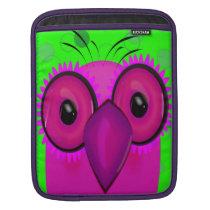 Purple Cartoon Owl d iPad Sleeve